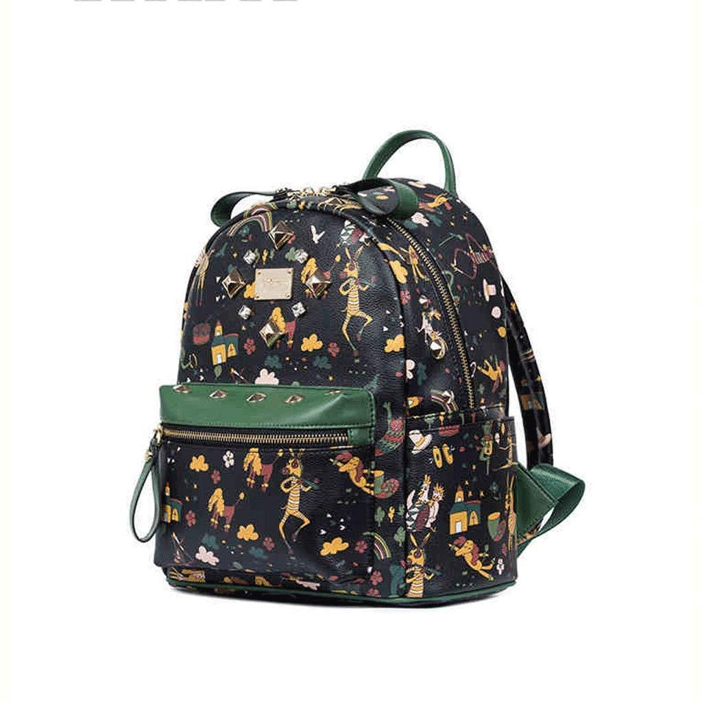 SLH Sac à Dos Version féminine du Mini Sac à Main étudiant (Color : Green, Size : 24 * 11 * 27cm)