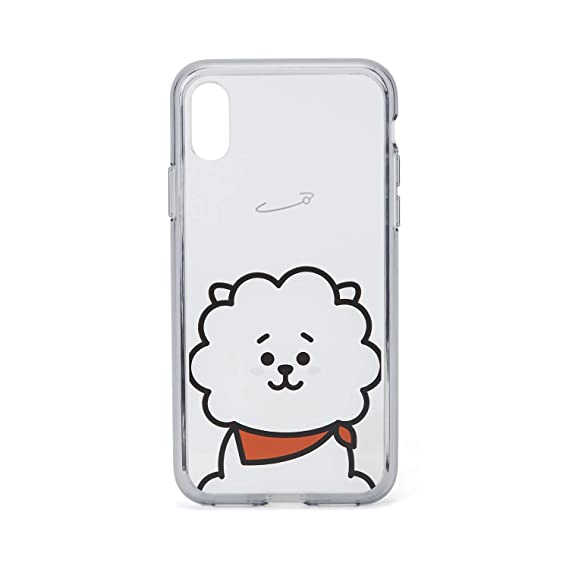 info for 7a69f cadd7 BT21 Official Merchandise by Line Friends - RJ Character Clear Case for  iPhone X Case, White