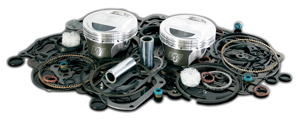 3.885 Bore 9:1 Compression Ratio Flat Top Forged Piston Kit with Top End Gasket Wiseco VT2721