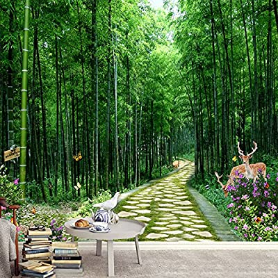 XLi-You Large 3D Stereo Landscape Garden Of The Bamboo Grove Tv Background Wall Paper Murals