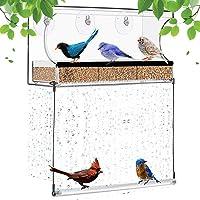 Janny-shop Comedero para Pájaros con 3 Ventosas Comedero