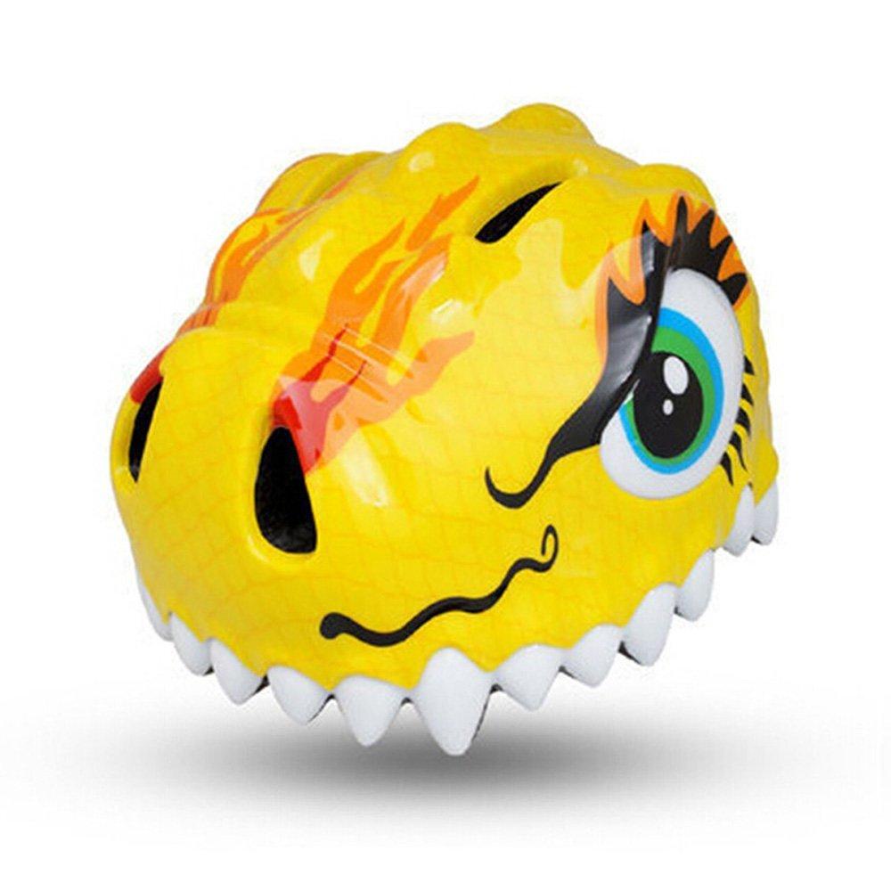 ESASAM 3D Design Dinosaur Infant/Toddler Bike Helmets For Kids (Yellow)