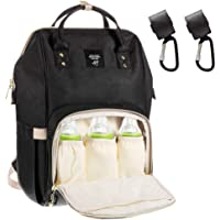 Dulcii Multi-Function Waterproof Diaper Bag Travel Backpack Nappy Bags for Baby Care, Large Capacity, Stylish and Durable,Black