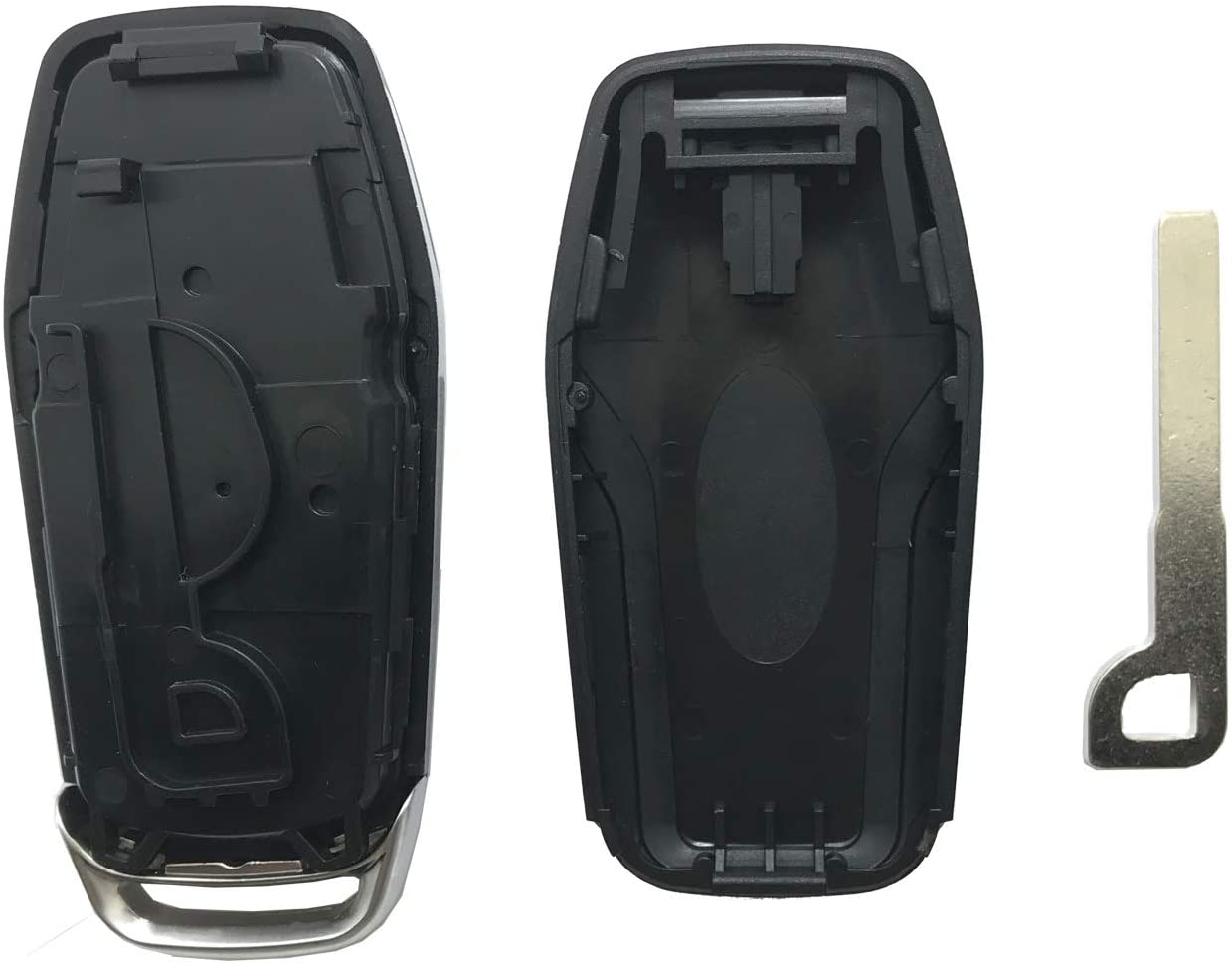 Black Smart Key Fob Shell Case Fit for Ford Fusion Mustang Explorer Edge 5 Buttons Keyless Entry Remote Key Fob Cover Housing