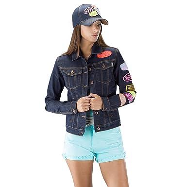 ec9176c6b8e5 von dutch Damen Jacke Gr. XS , blau  Amazon.de  Bekleidung