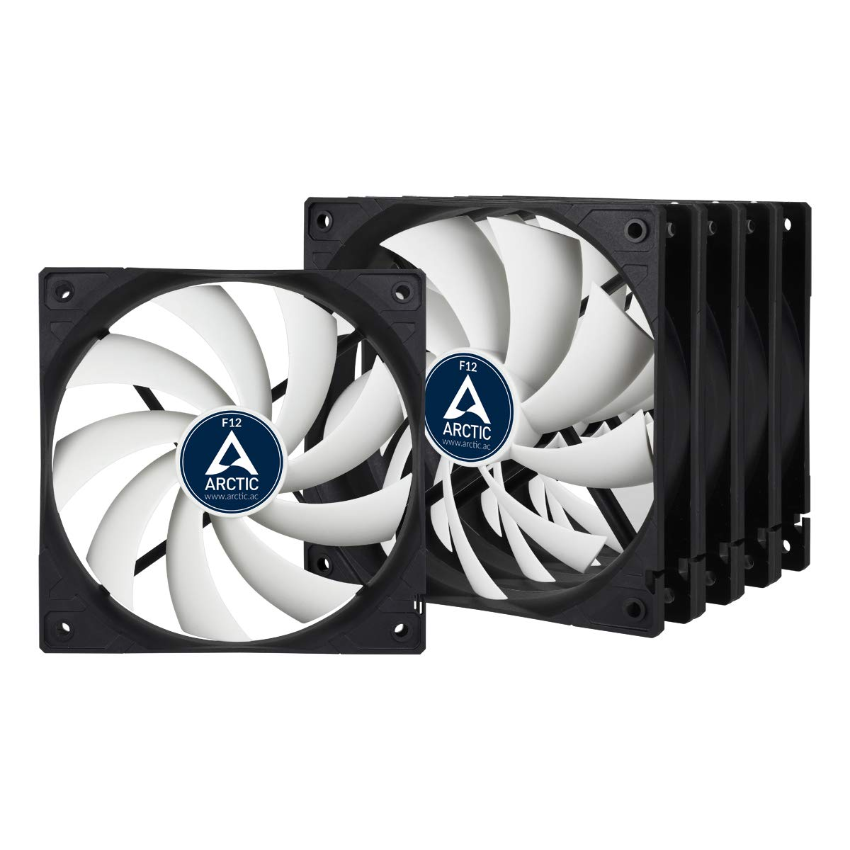 ARCTIC F12-120 mm Standard Case Fan - Five Pack | Ultra Low Noise Cooler | Silent Cooler with Standard Case | Push- or Pull Configuration possible