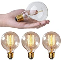 Paquete de 4 bombillas Edison G25/G80-E27 filamento 60
