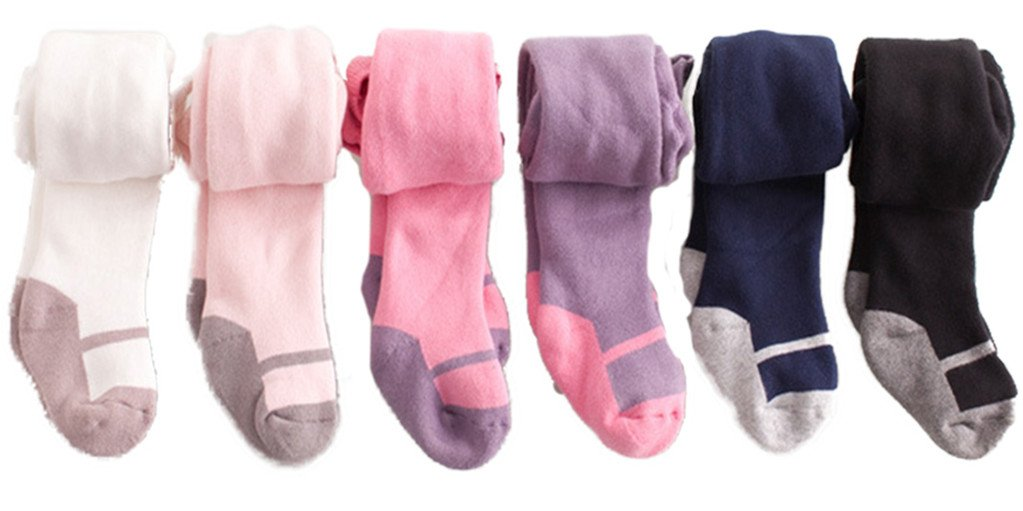 5 Pcs of Kids Baby Toddler Girls Boneless Combed Cotton Tights Leggings Panties 1-2 Years by JELEUON