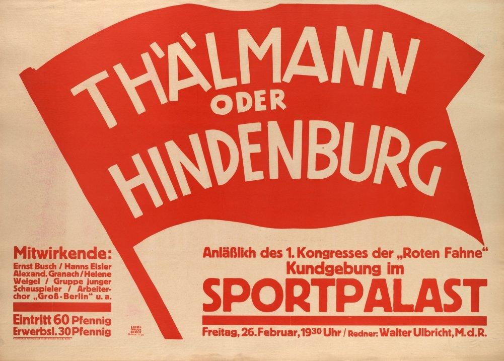 Alemán de entreguerras Propaganda Comunista bandera roja ...