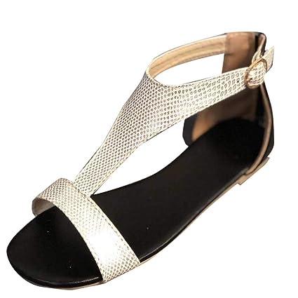 3db1b84b7 Amazon.com  Women Sandals Flat Casual ❤ Vanvler Ladies Roman Shoes Open Toe  Breathable Beach Buckle Strap Sandals  Arts
