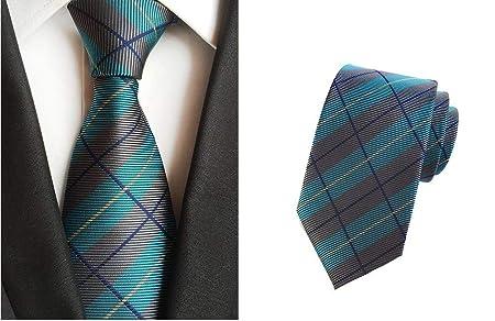 Mon5f Home Corbata de Corbata con diseño de Cuadros Azules de Baby ...