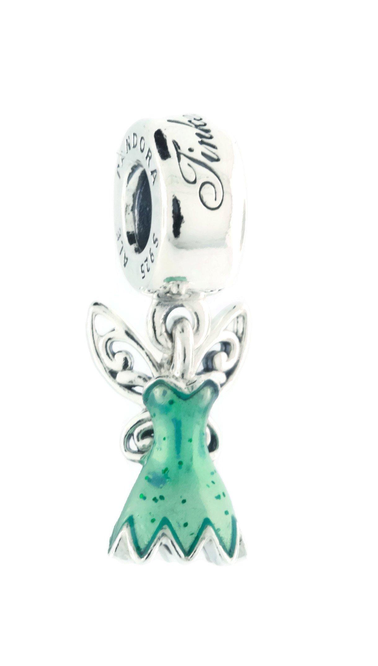 PANDORA Disney, Tinker Bell's Dress Charm, Glittering Green Enamel 792138EN93