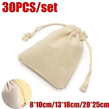 Amazon.com: FidgetGear 30 – 60 Mini bolsa de lino natural ...