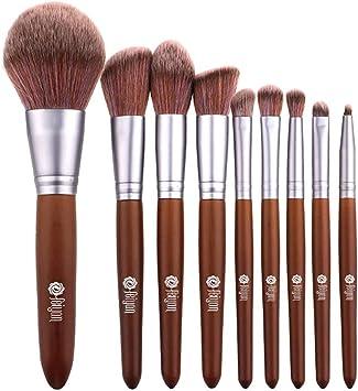 Estuche para brochas de maquillaje para principiantes, 9 unidades, con punta de caoba, cola de arcoíris, micro cristal, para el cabello Viahwyt.UT (negro): Amazon.es: Bricolaje y herramientas