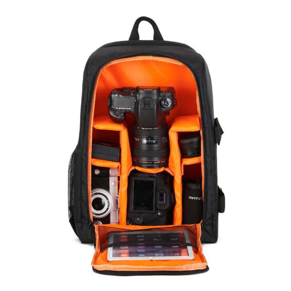 SLR Camera Bag Shoulder Outdoor Photography Bag Multi-Function Digital Backpack Orange 44CmX18CmX31Cm by M.T.E