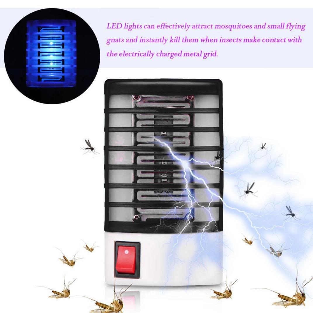 Matoen Electronic Mosquito Killer Led Socket Electric Make This Repeller Circuit Diagram Fly Bug Insect Trap Zapper Night Lamp Lights A Black Garden