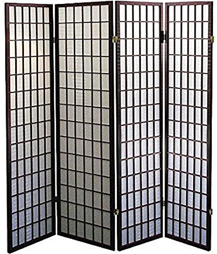 - Legacy Decor 4-Panel Shoji Screen Room Divider, Espresso Finish 71