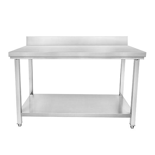 HB MATOS - Mesa de preparación de acero inoxidable para cocina ...