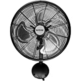 Hurricane Wall Mount Fan - 16 Inch | Pro Series | High Velocity | Heavy Duty Metal Wall Mount Fan for Industrial, Commercial, Residential, and Greenhouse Use - ETL Listed, Black