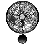 Hurricane Pro High Velocity Oscillating Metal Wall Mount Fan 16 inch - 736484