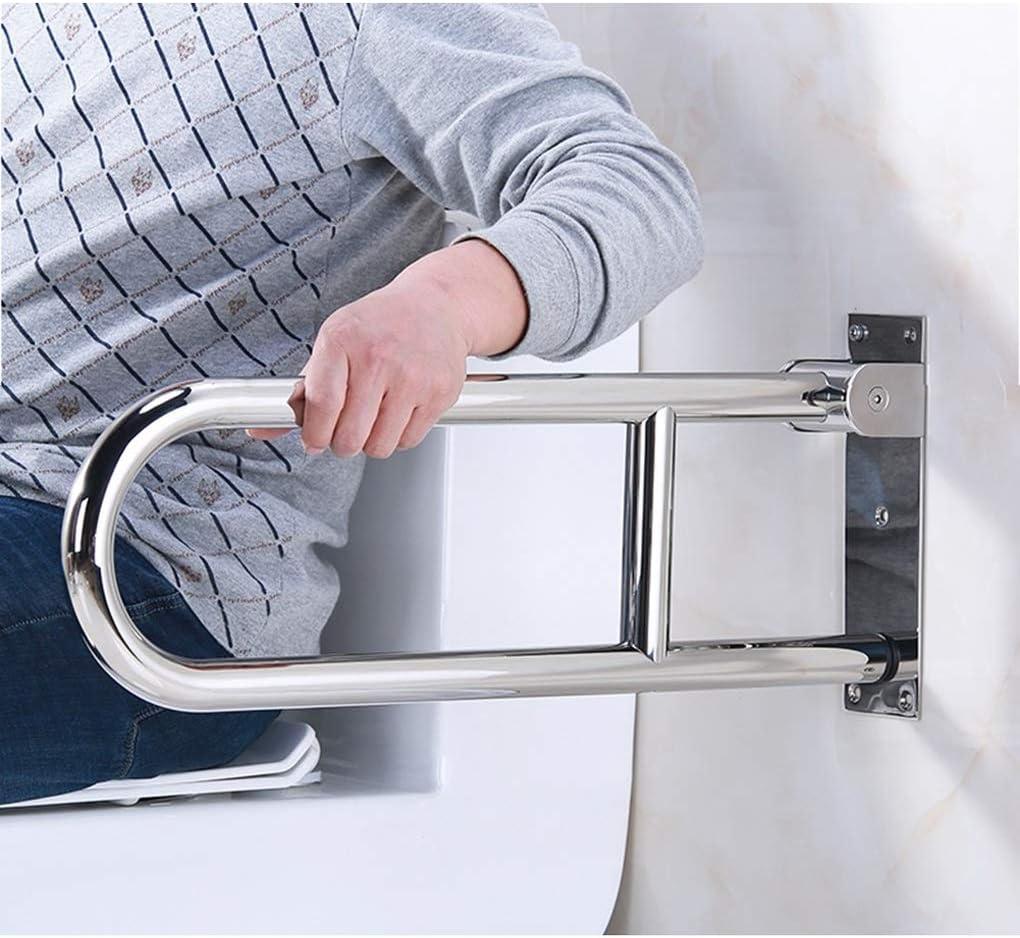 JPFUSHOU Doble Barra de Seguridad para baño Barra abatible Inoxidable para baño Adaptado a Personas Mayores y con minusvalías (Color : Sanding, Tamaño : 70cm): Amazon.es: Hogar