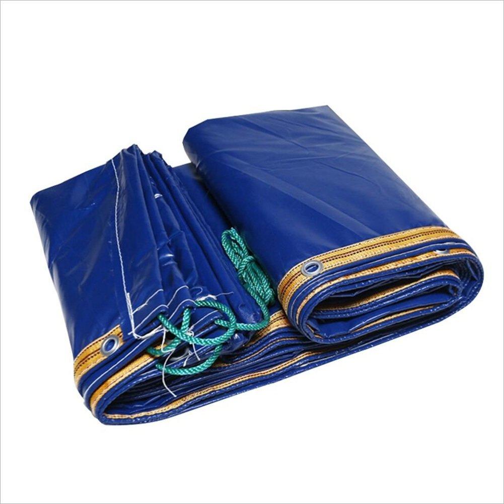 AJZXHE Blaue LKW-Plane, regendichte Dicke Plane Picknick-Matte, Fracht Sonnenschutzisolierung und verschleißfest, Plane