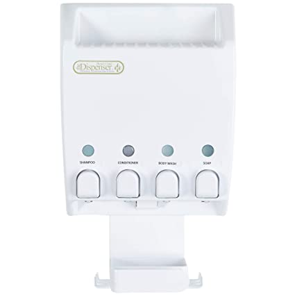 Better Living Products 75453 Ulti Cover-Mate 4 White Dispenser con ducha Caddy