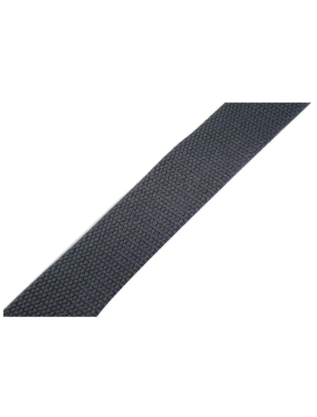 uxcell Unisex Canvas No Hole PU Panel Slide Buckle Belt 1 1//2