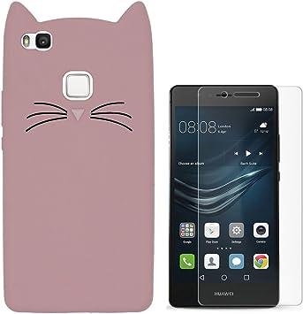 Hcheg funda de silicona diseño rosa cat para Huawei P9 lite ...