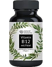 Vitamin B12 1000µg - Vergleichssieger 2019* - 180 Tabletten - Premium: Beide Aktivformen + Depot + Folat (5-MTHF aus Quatrefolic®) - Vegan, hochdosiert & made in Germany