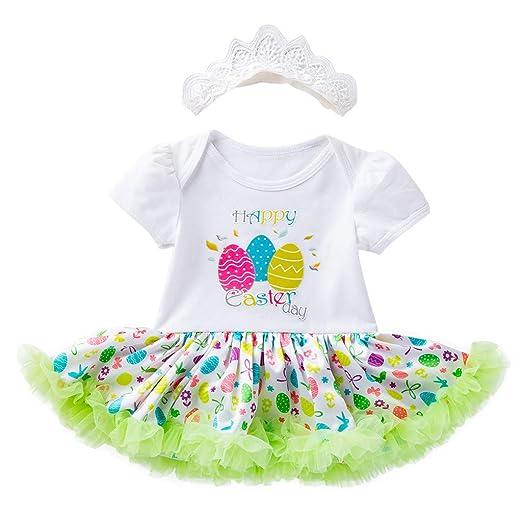 c4a337c6d40d Amazon.com  Easter Eggs Tutu Princess Dress for Toddler Baby Girls ...
