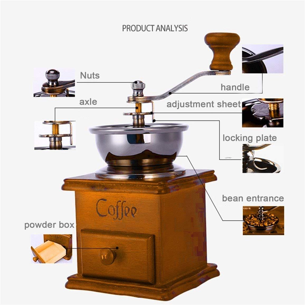 Fantasyworld Hogar de la Mano Amoladora Molinillo de café Cafetera ...