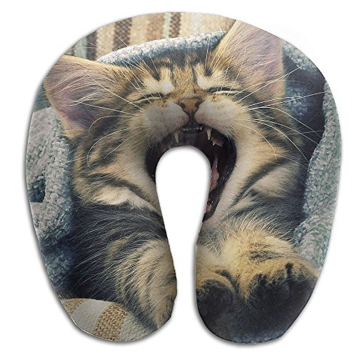 U-Shaped Pillow Neck Shoulder Body Care Cute Cat Good Morning Health Soft U-Pillow For Home Travel Flight Unisex Supportive Sleeping]()