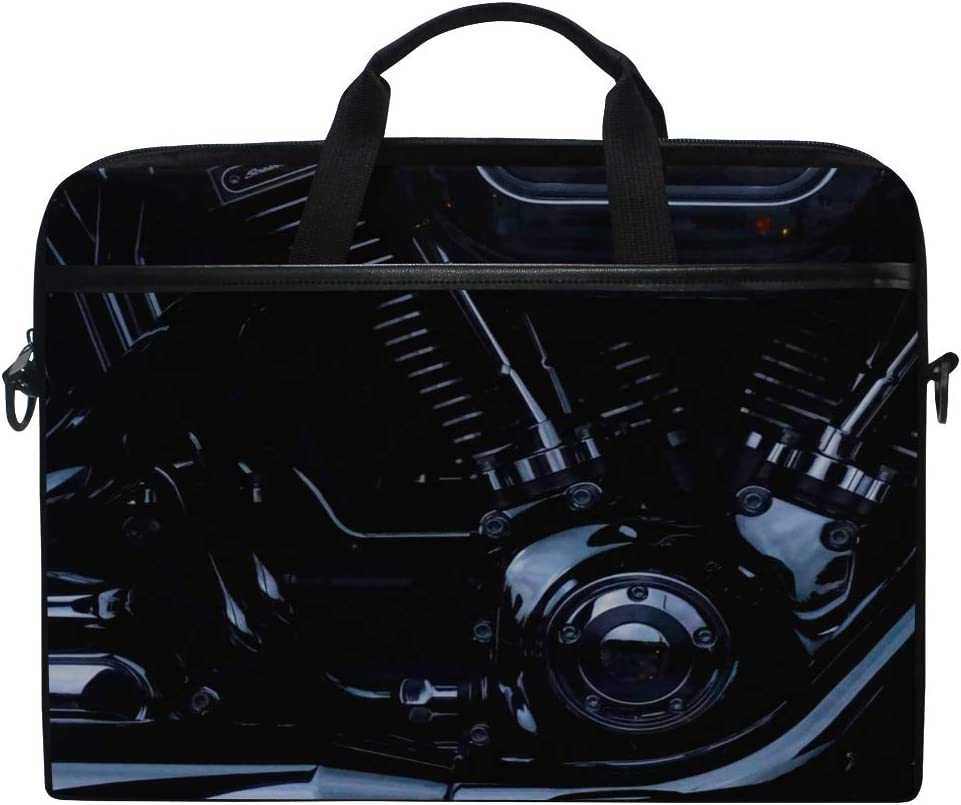 Rh Studio Laptop Bag Engine Harley Davidson Motorcycle Messenger Bag Case Sleeve for 14 Inch to 15.6 Inch with Adjustable Notebook Shoulder Strap