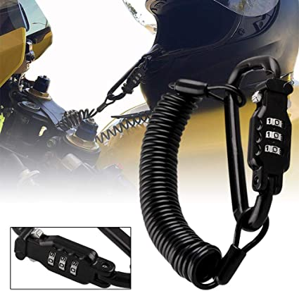 Candado Casco Moto Candado Bicicleta Combinación, Motocicleta de 3 ...