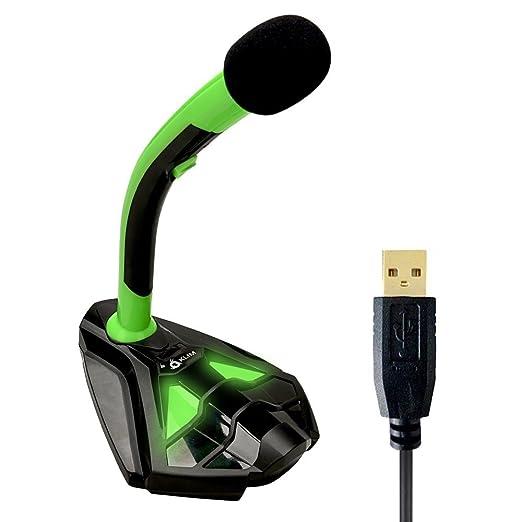 172 opinioni per Microfono KLIM Desktop USB con stand per computer laptop PC- microfono gaming