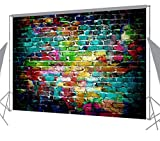 OUYIDA 7X5FT Colorful Brick Wall Pictorial cloth photography Background Computer-Printed Vinyl Backdrop TG02