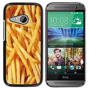 YOYOYO ( NO PARA HTC ONE M8 ) Smartphone Protección Defender Duro Negro Funda Imagen Diseño Carcasa Tapa Case Skin Cover Para HTC ONE MINI 2 M8 MINI - Papas a la francesa de comida basura amarilla rápido