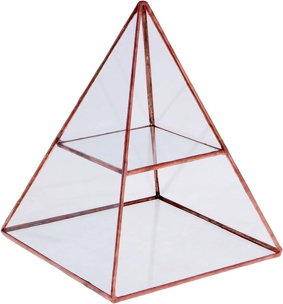 MagiDeal Bo/îte /à Bijoux Porte-Affiche Rangement Organisateur en Pyramide en Verre