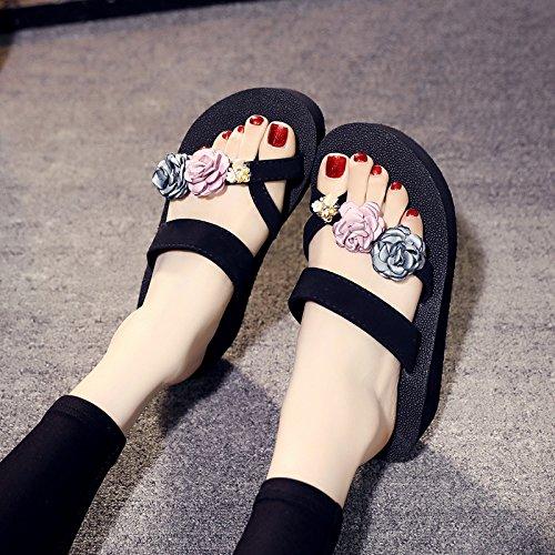 femme Cool b de pour épais à Tongs antidérapante Mode Resort de FLYRCX plage Pantoufles chaussures fond décontracté Seaside Pinces qwzZgaf