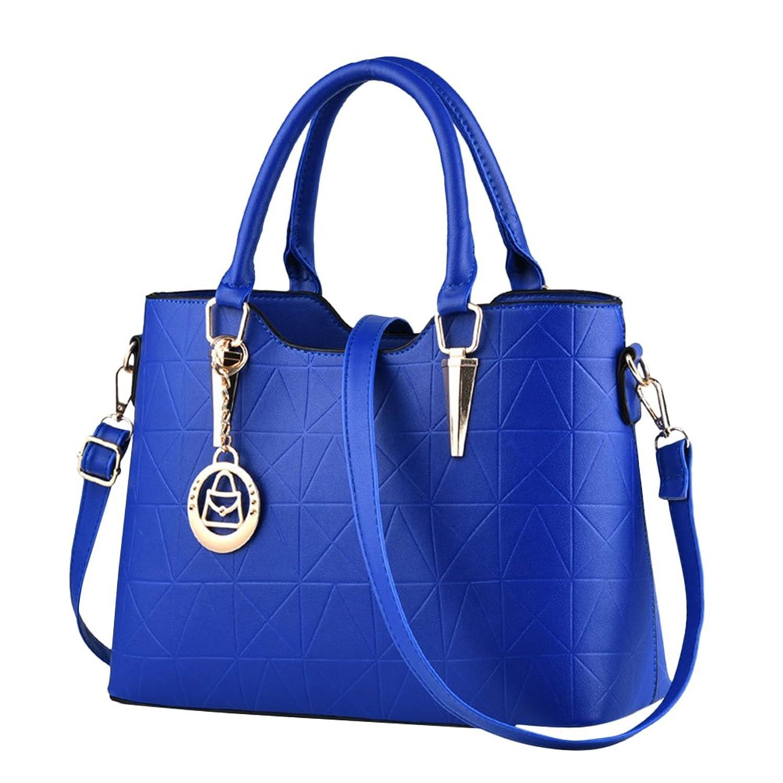 Sac à Main Pour Femmes Vintage PU Cuir Élégant Pure Couleur Sacs Bandoulière Épaule/Sacs portés épaule Bleu royal pjeZqOU0h