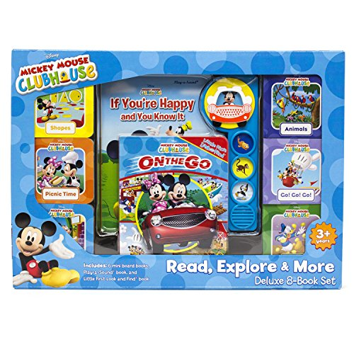 Disney Mickey Mouse Clubhouse - Read, Explore, & More Deluxe 8-Book Set - PI Kids -