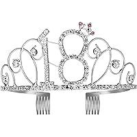 WolinTek Tiara Cristal Cumpleaños Corona Princesa Feliz Cumpleaños