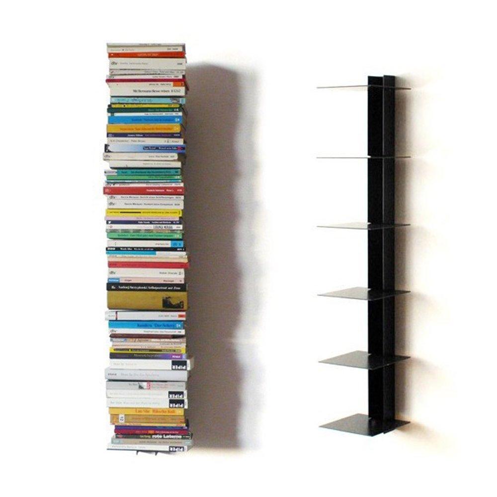 Haseform Bücherturm 90 cm (für 1 m Bücher) anthrazit Bücherregal Wandregal