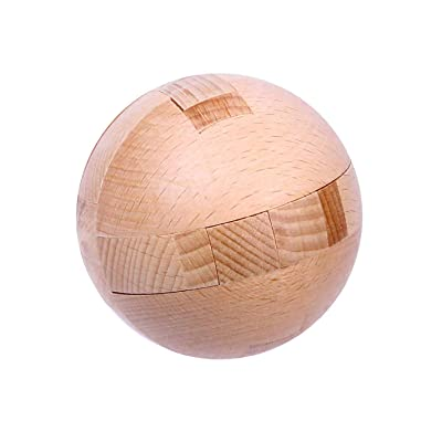 Ahyuan Big Wooden Ball Puzzle 3D Wooden Brain Teaser 3D Wooden Puzzles for Adults Wooden Brain Teaser Puzzles Wooden Brain Teasers for Child: Toys & Games [5Bkhe1007132]