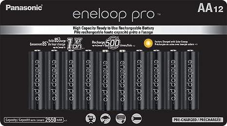 Amazon.com: Panasonic BK-3HCCA12FA eneloop Pro AA - Pilas ...