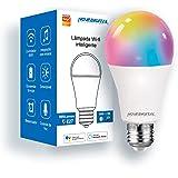 Smart Lâmpada Wi-Fi NOVADIGITAL Smart Home Casa Inteligente LED 10W, Branco Frio+RGB Compatível com Alexa e Google Home