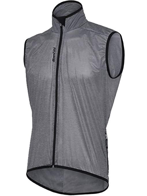Scudo GrigiomGrayAmazon Fashion Vest 2018 Cycling Santini ybfY76g