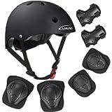 KAMUGO Kids Bike Helmet, Toddler Helmet for Ages 5-8 Boys Girls with Sports Protective Gear Set Knee Elbow Wrist Pads…