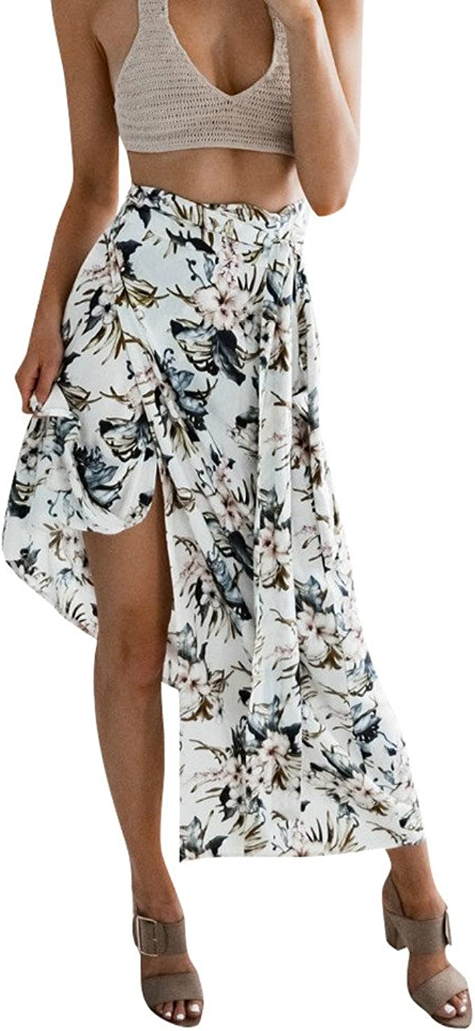 Estampado Sexy con Una Falda de Tiras Dwevkeful Moda Casual ...